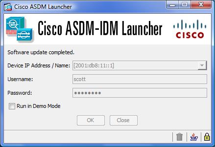 ASDM using IPv6